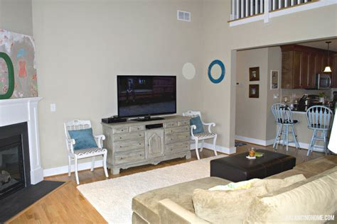 living room dresser to tv console balancing home with