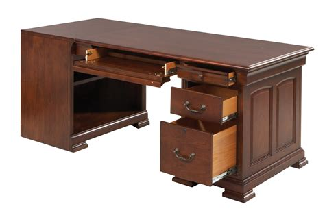 classic cherry home office peninsula desk 11448