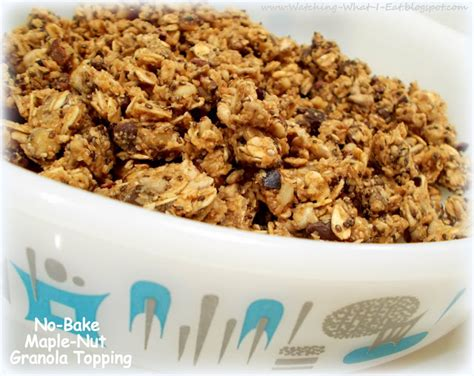 Watching What I Eat No Bake Maple Nut Granola Topping