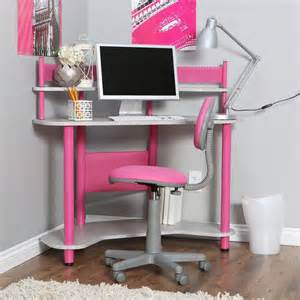 Children S Corner Desk Computer Corner Desks Furniture For Bedroom Design Ideas With Pink And Silver Desk