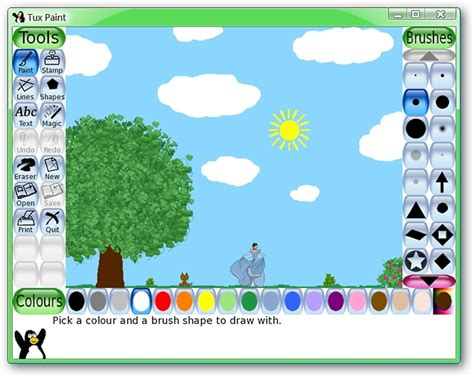 draw lots program tux paint a great image program for your children