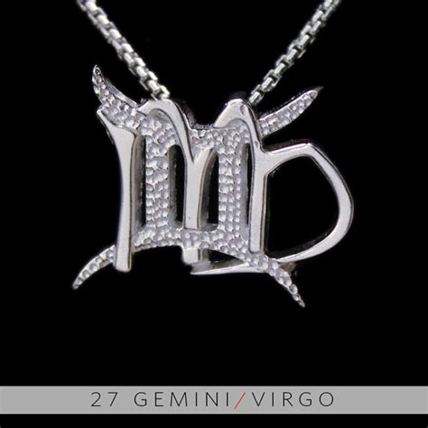 27 gemini and virgo silver unity pendant by