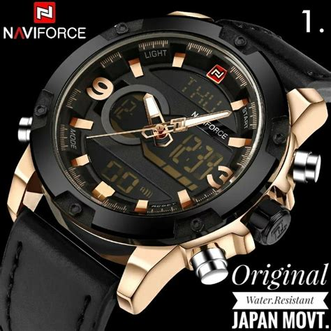 Jam Tangan Naviforce Original 5 jam tangan pria original anti air naviforce 9097