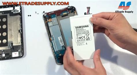Baterai Batere Battery Samsung P1000 Tab 1 galaxy tab p1000 repair tutorial step by step disassembly
