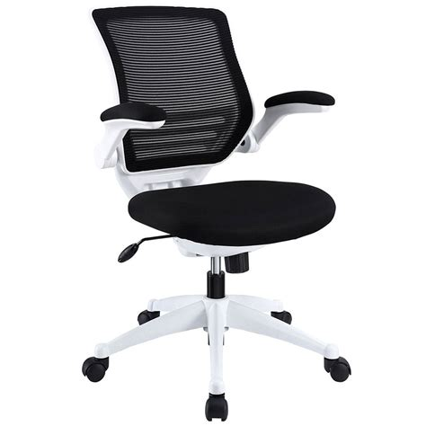 White Modern Office Chair by Ede Fabric Black White Modern Office Chair Eurway
