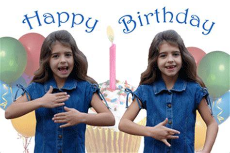 happy birthday girl greeting card    sign