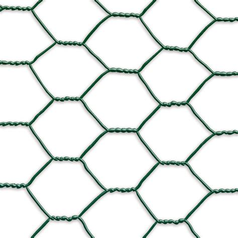 chicken wire netting green plastic coated 1m x 10m 25mm