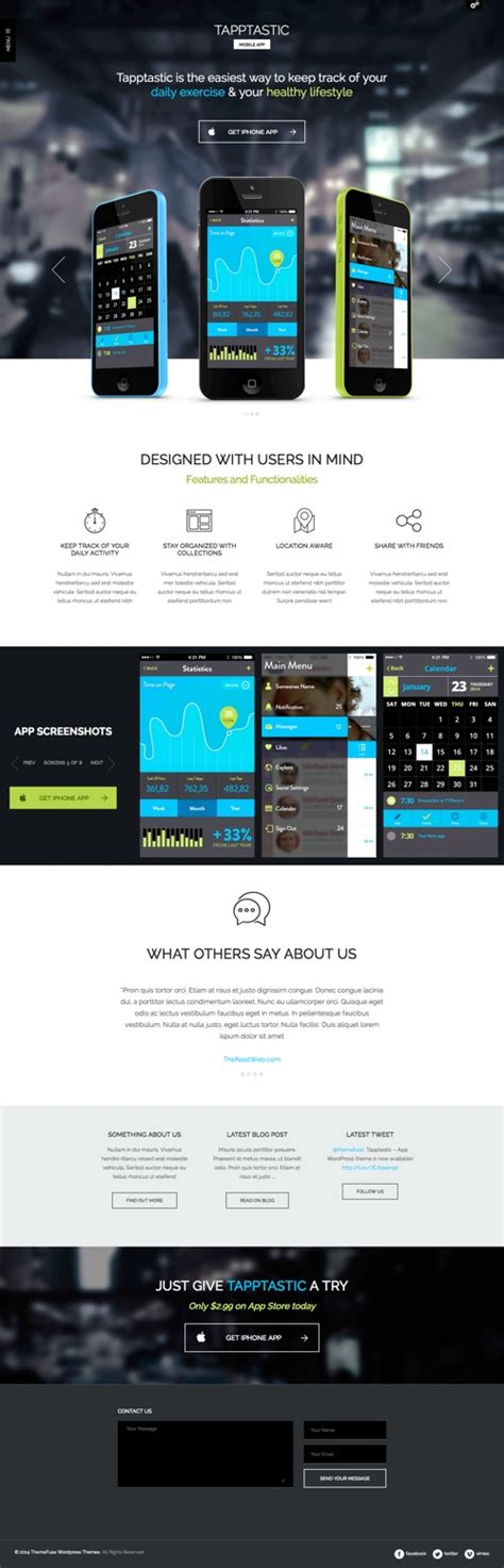 mobile themes apps wordpress theme for mobile apps