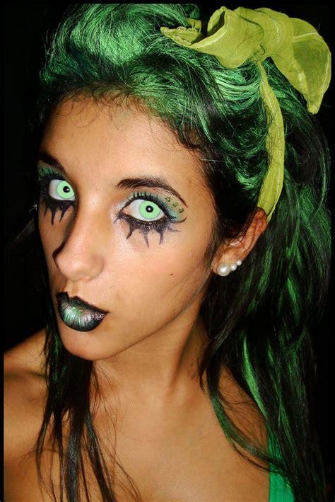 imagenes de hadas halloween maquillaje de hada verde halloween 2016 siniestra