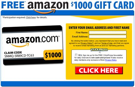 how to get free stuff on amazon without a credit card get 1000 amazon gift card for free sles r us