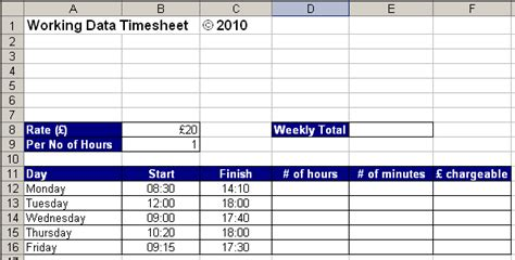 hours worked spreadsheet template a simple excel timesheet working data