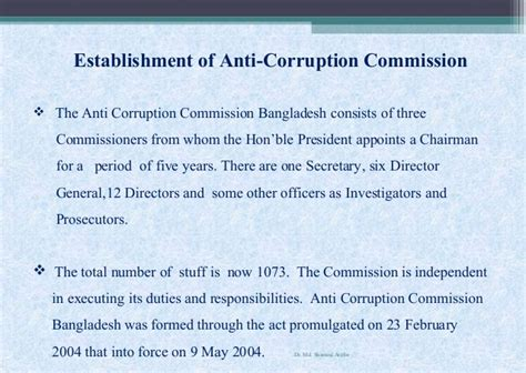 anti corruption commission bangladesh accountability and anti corruption measures in bangladesh