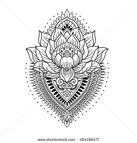 lotus mandala outline stock vector 484186477 shutterstock
