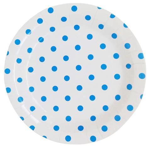 Polka Blue Bergo Busui Ay paper plates 9in 12pcs powder blue polka dot