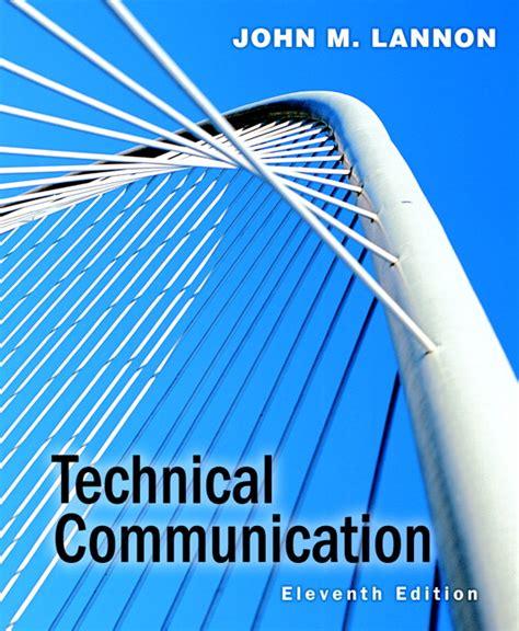 technical communication lannon technical communication pearson