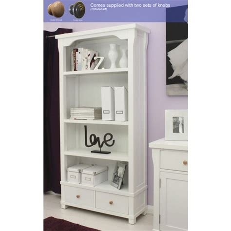 hton white painted bookcase with drawers