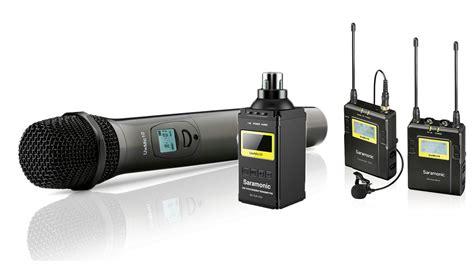 Mic Wireless Sony Ak 22 Uhf Microphone 2 Channel saramonic uhf wireless lavalier radio microfoni digitali uwmc 10 tx rx proav news e