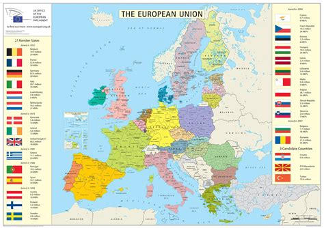 european union map and here s a map of the european union eu countries m support groups