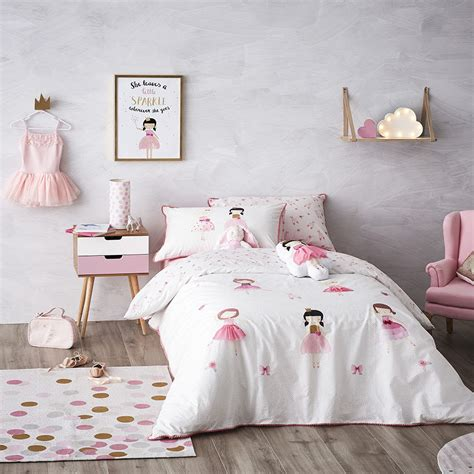 adairs coverlets adairs kids ballet girls quilt cover set bedroom