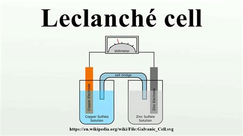 leclanche cell diagram leclanch 233 cell