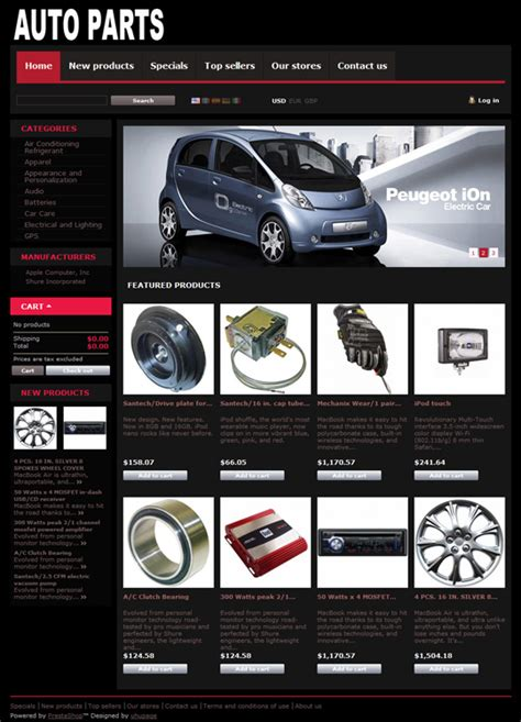 Ecommerce Themes Auto Parts Free Prestashop Ecommerce Theme Auto Spare Parts Website Template Free