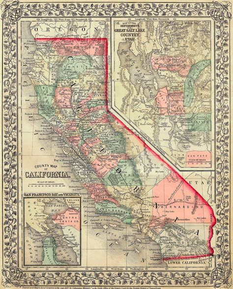 california map high resolution california map 1867 scanned version of original map of