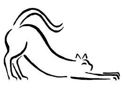 cat tattoo line drawing cat stretching line drawing by glory robinson drawings