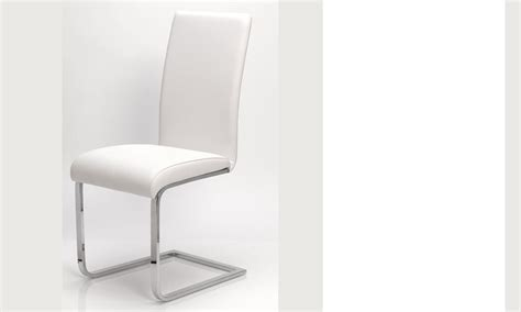 Chaise Blanche Design Salle A Manger by Chaise Salle A Manger Blanche En Pu Et Acier Design Etna