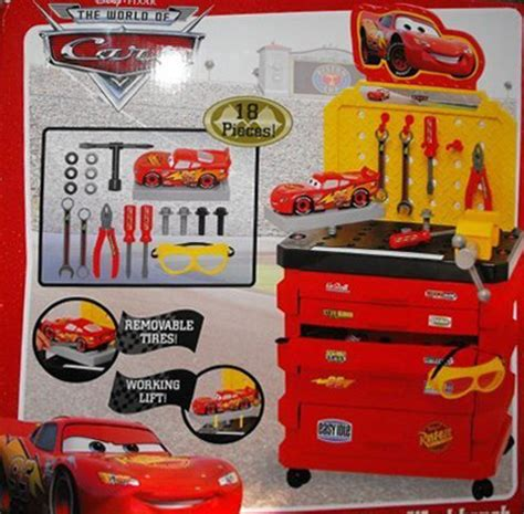disney cars tool bench mattel pixar diecast cars random photos sidewall letter