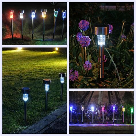 High End Landscape Lighting New High End Solar Outdoor Pathway Led Light Copper Stainlesssteel Garden Light Ebay