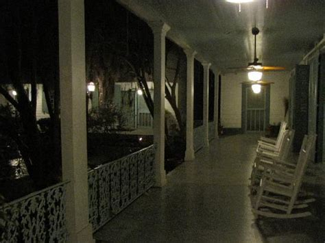 porch at night arriving at the beautiful myrtles plantation picture of
