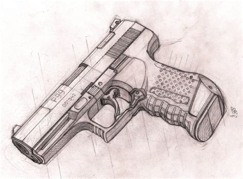 P99 Tech Drawing Sketch By Bordon On Deviantart Cool Drawings Of Shooting 2