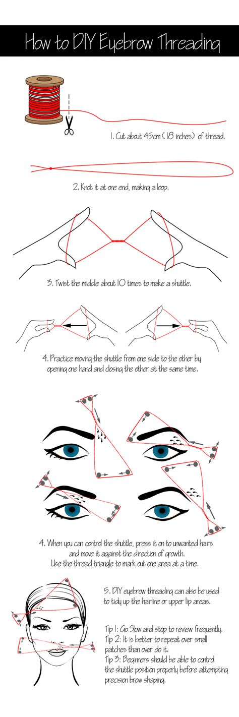how to do eyebrow threading at home for eyebrows shape