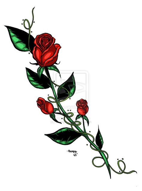 long stem rose tattoo designs best 25 bud ideas on and