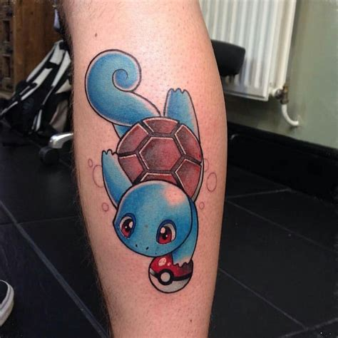 squirtle tattoo videogametatts on instagram pokemonday 3 squirtle