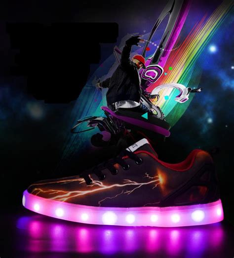glow in the shoes led light shoes luminous camouflage casual glow in the