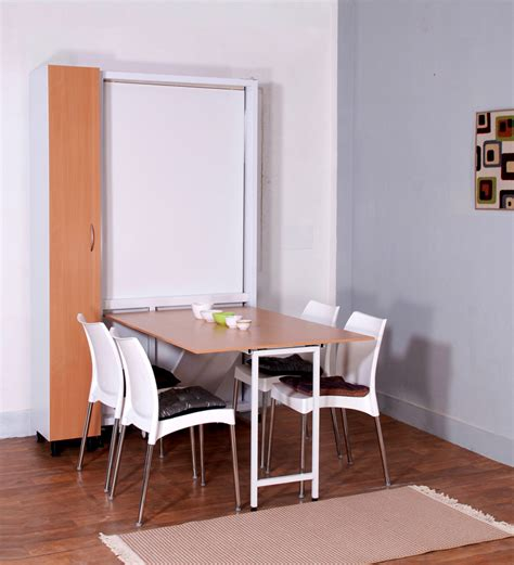 space saving dining table spaceone space saving single bed dining table wardrobe by spaceone contemporary