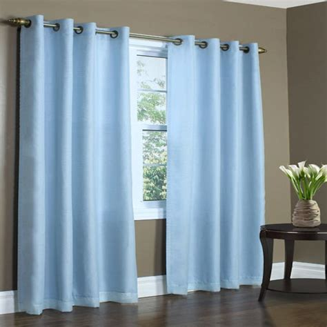 lined sheer curtains rhapsody aqua thermavoile semi sheer lined grommet top