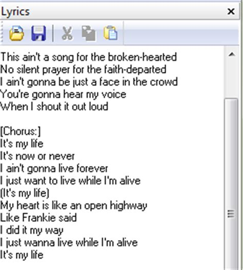 Download Song Lyrics Lyric Template