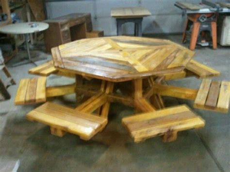 octagon wood picnic table 32 best patio ledges images on backyard ideas