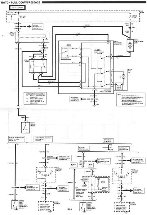 1992 camaro fuse relay box wiring diagram with description