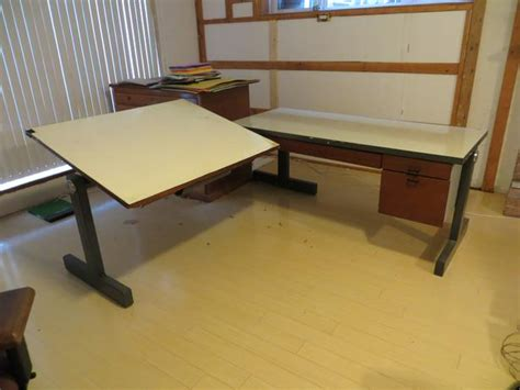 drafting table l two drafting table with desk l shaped saanich