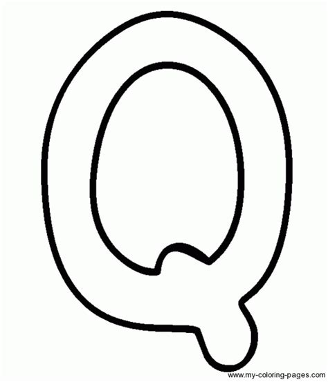 Letter Q Coloring Pages - GetColoringPages.com Q Bubble Letter