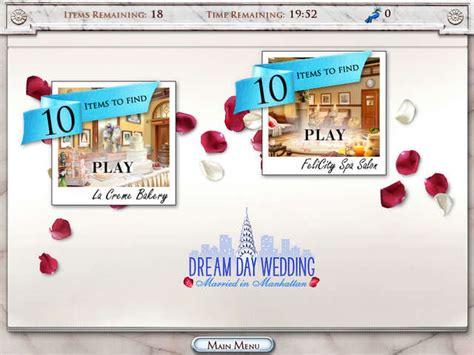 play dream day wedding online free play games on shockwave dream day wedding married in manhattan gamehouse