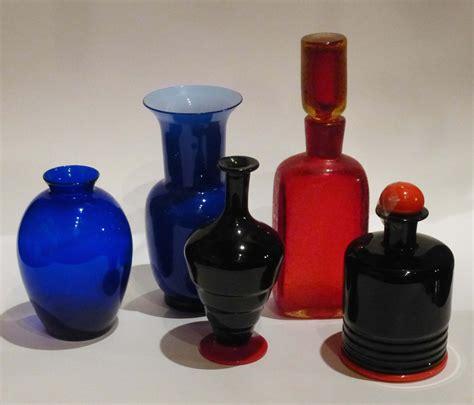 vasi vetro di murano lotto di vasi e bottiglie in vetro di murano arti