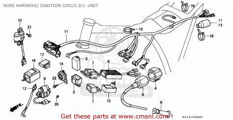 honda xr250r 1992 australia wire harness ignition coil c
