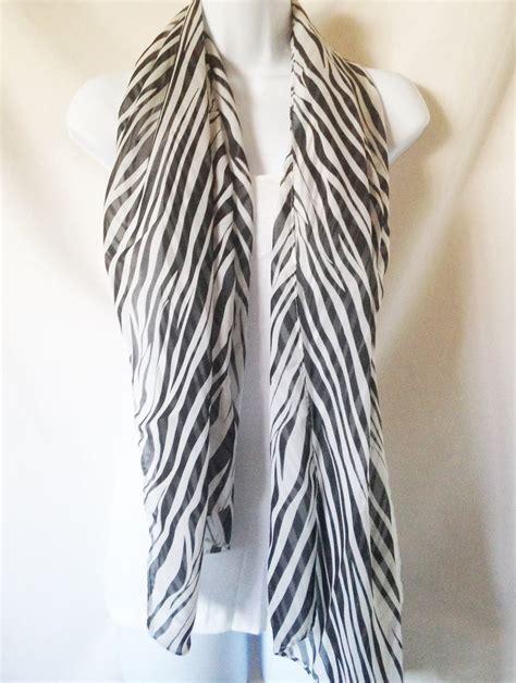 silky zebra print shawl scarf