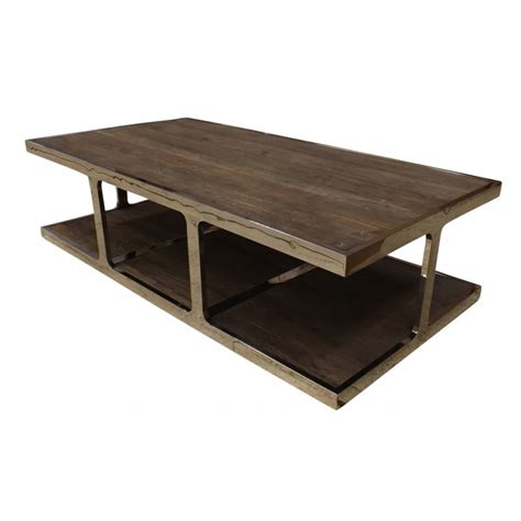 Reclaimed Elm Coffee Table European Design Industrial Coffee Table In Reclaimed Elm