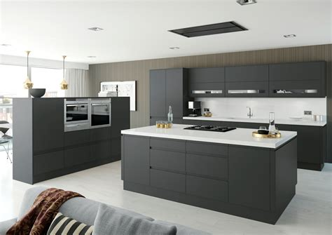 Cape And Island Kitchens by Moda Anthracite Matt Mastercraft Kitchens