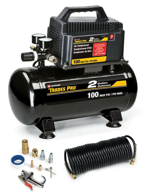 trades pro 174 2 gallon air compressor with accessories 837254 ebay